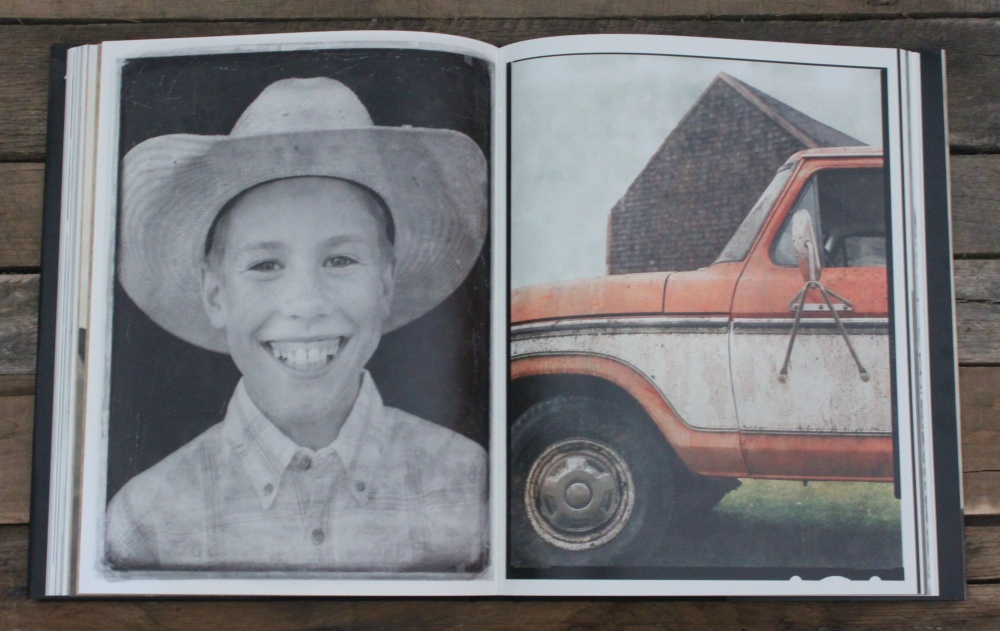 Richard Phibbs Young Cowboy lll & Red Pick Up Truck