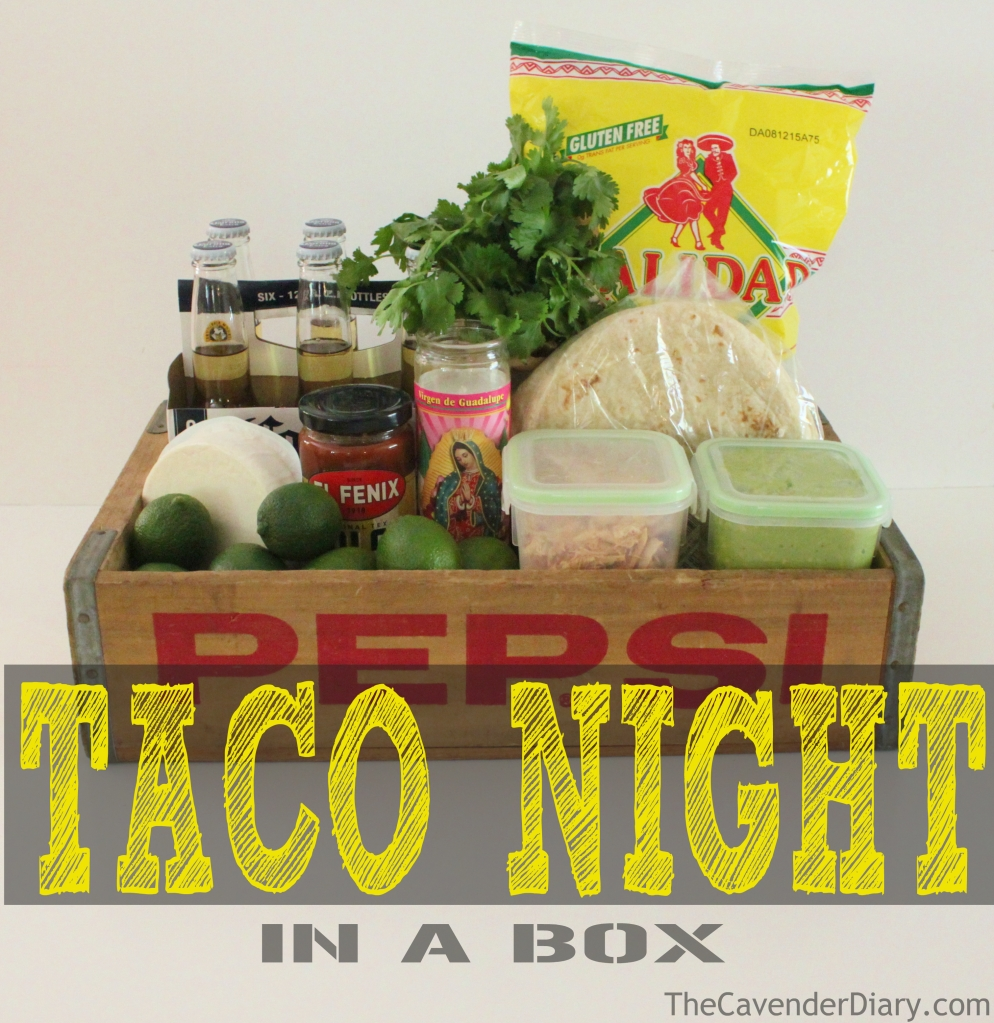 Taco Night in a Box from the Cavender Diary Boys