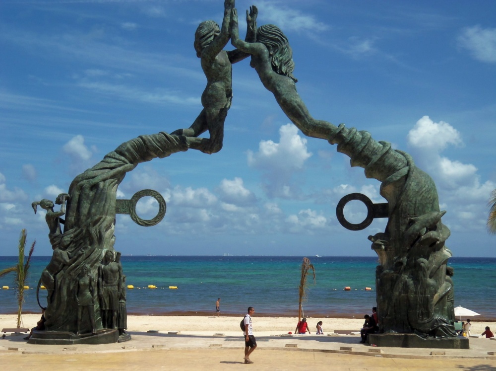 Portal Maya Sculpture in Playa del Carmen
