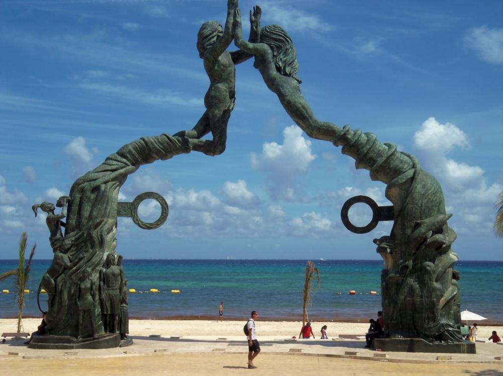 Portal Maya Sculpture in Playa del Carmen