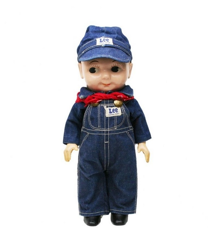 Buddy Lee Doll in Engineer Overalls and Cap