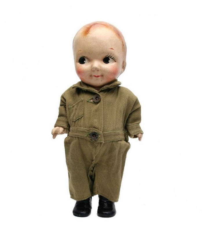 Buddy Lee Doll in Olive Cover-Alls