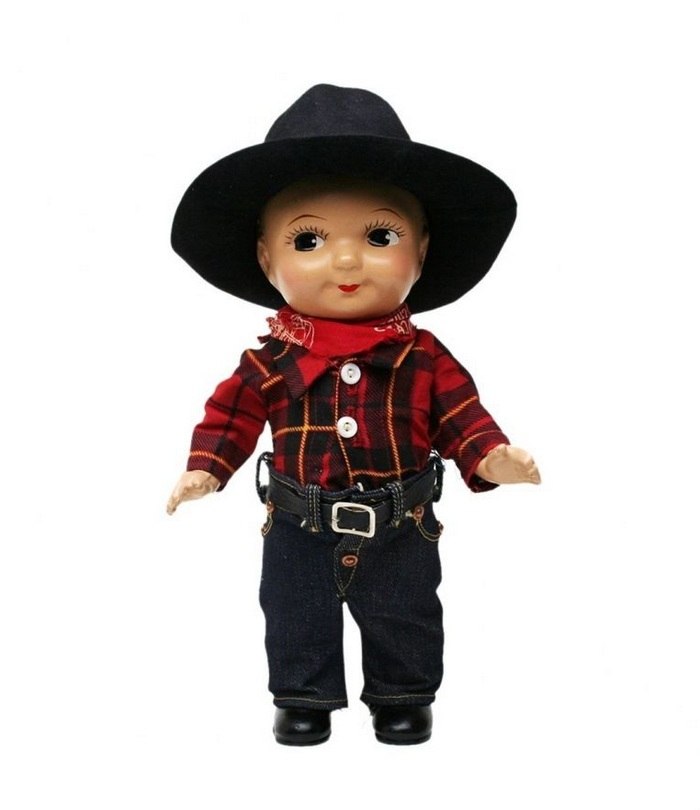 Buddy Lee Doll in Red Plaid Shirt