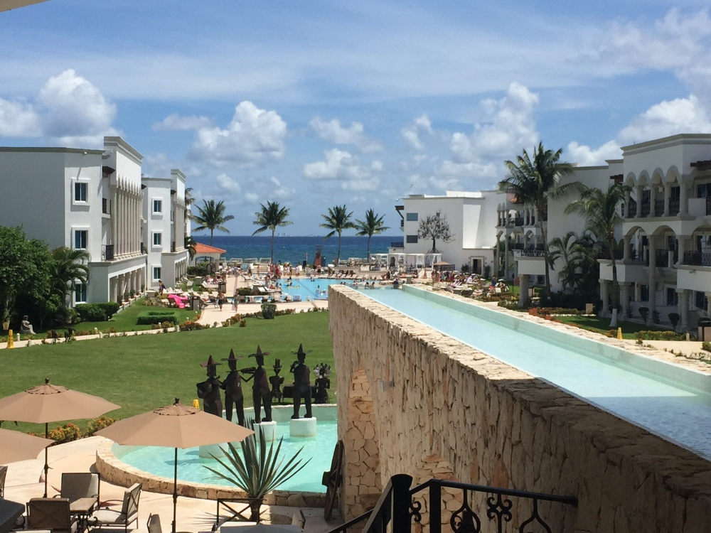 The Beach View From the Loby of the Royal Playa del Carmen
