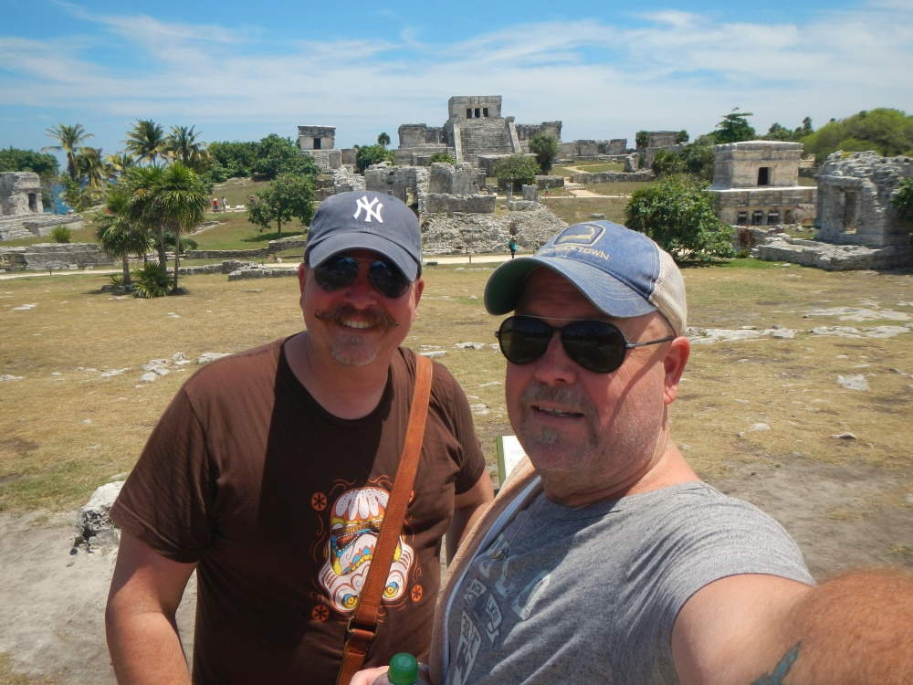 James and Jamie Selfie at Tulum