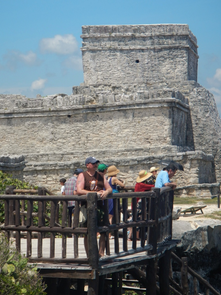 James at the Pyramids ot Tulum