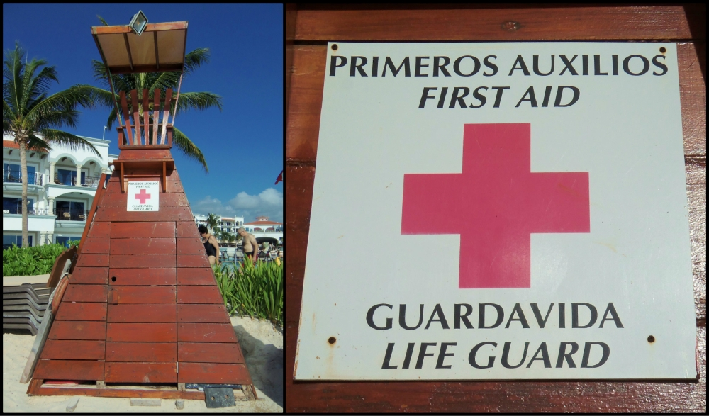Life Guard Stand on the Playa del Carmen Beach Collage