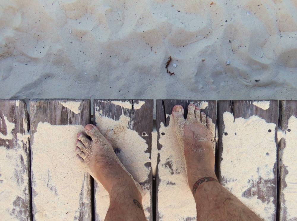 My Dirty Sand Feet on the Playa del Carmen Beach
