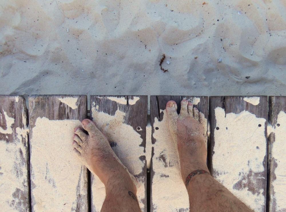 My Dirty Sand Feet on the Playa del Carmen Beach