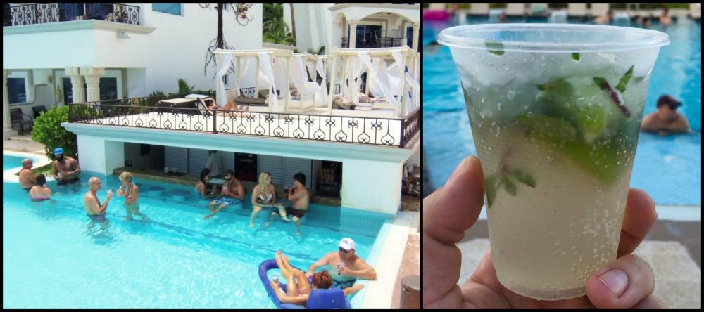 The Royal Playa del Carmen Pool Collage