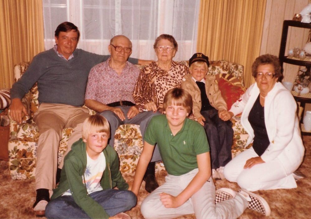 Me, My Vans, and my brothers with Great Grandparents