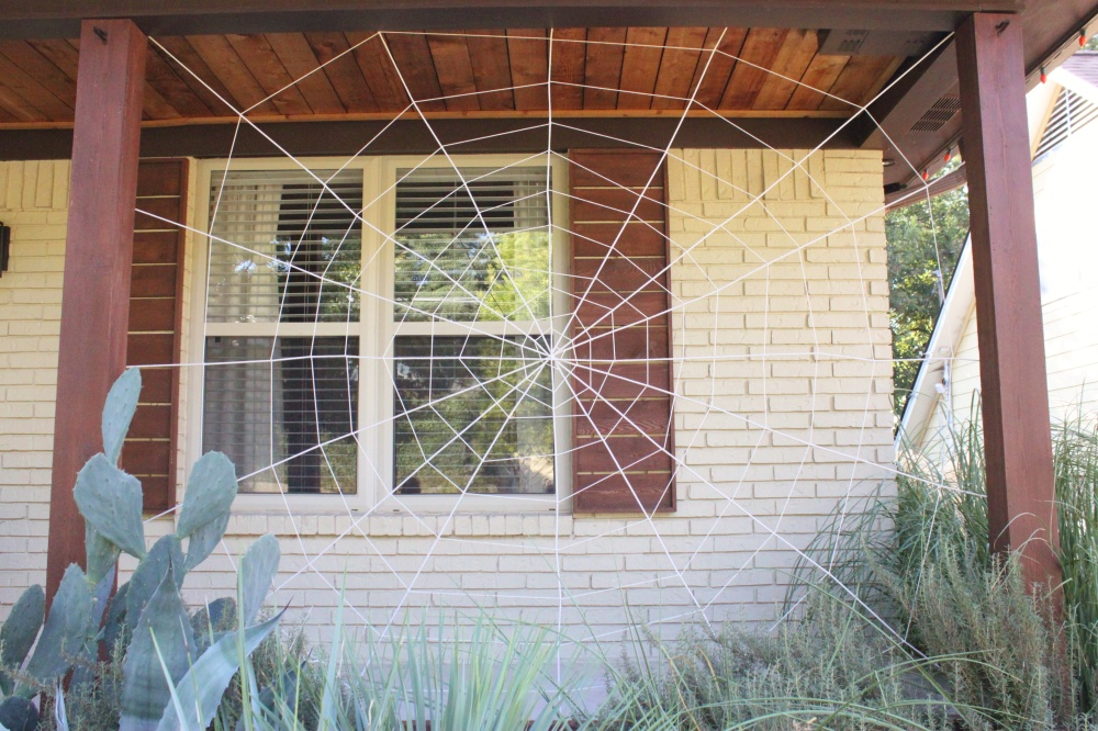 My Finished Spider Web on the Front Porch