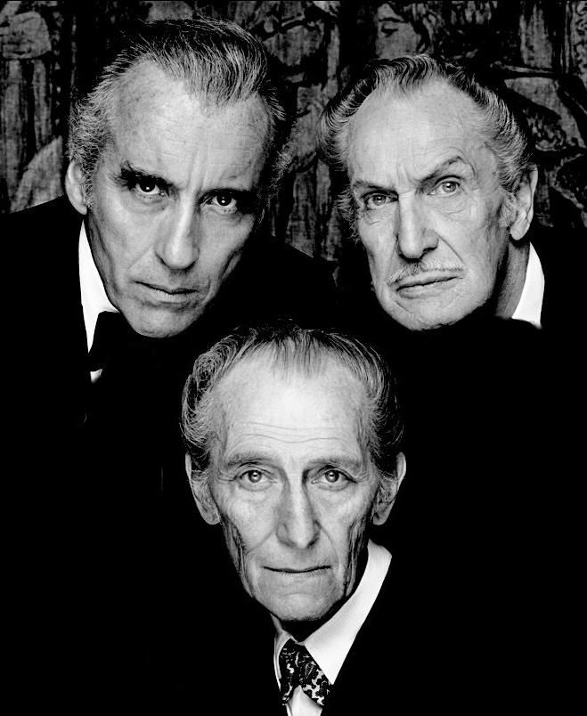 The Bat Pack Christopher Lee, Vincent Price, Peter Cushing