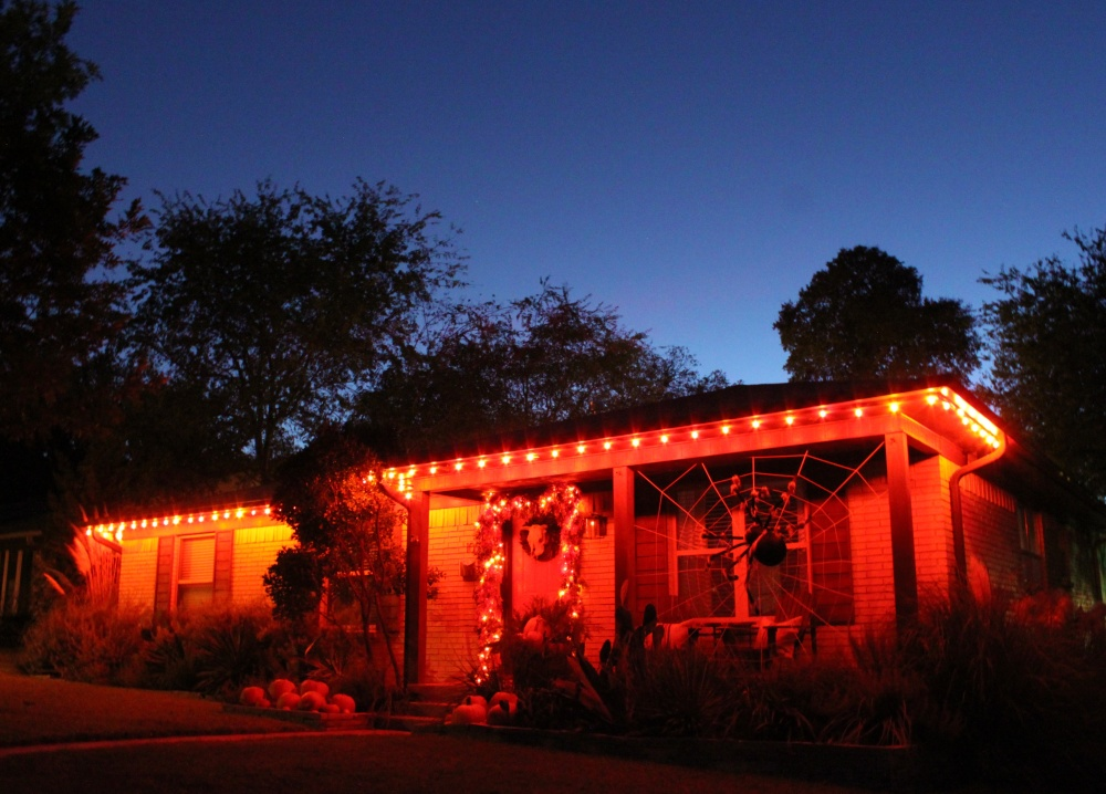 The Cavender House at Haloween Twilight