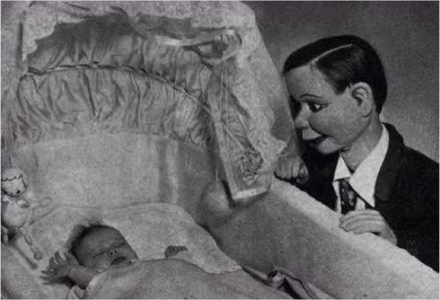 Ventriloquist Dummy with a Helpless Abby