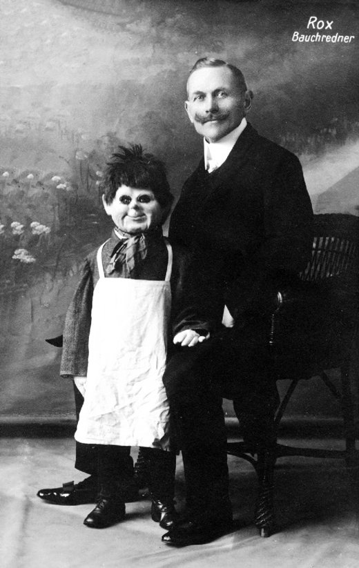 Ventriloquist with his Butcher Child Doll
