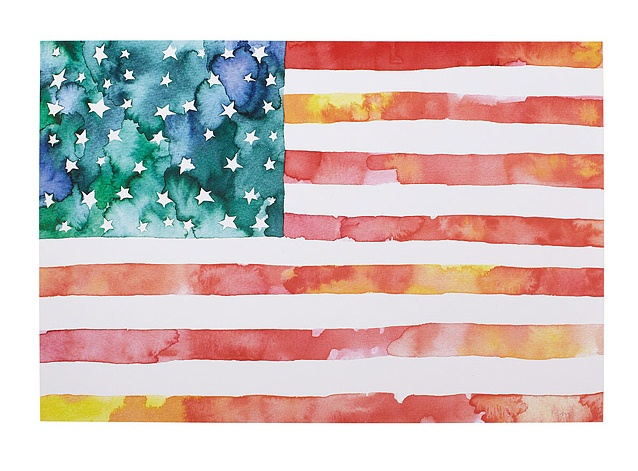 American Flag Watercolor from Uncommon Goods