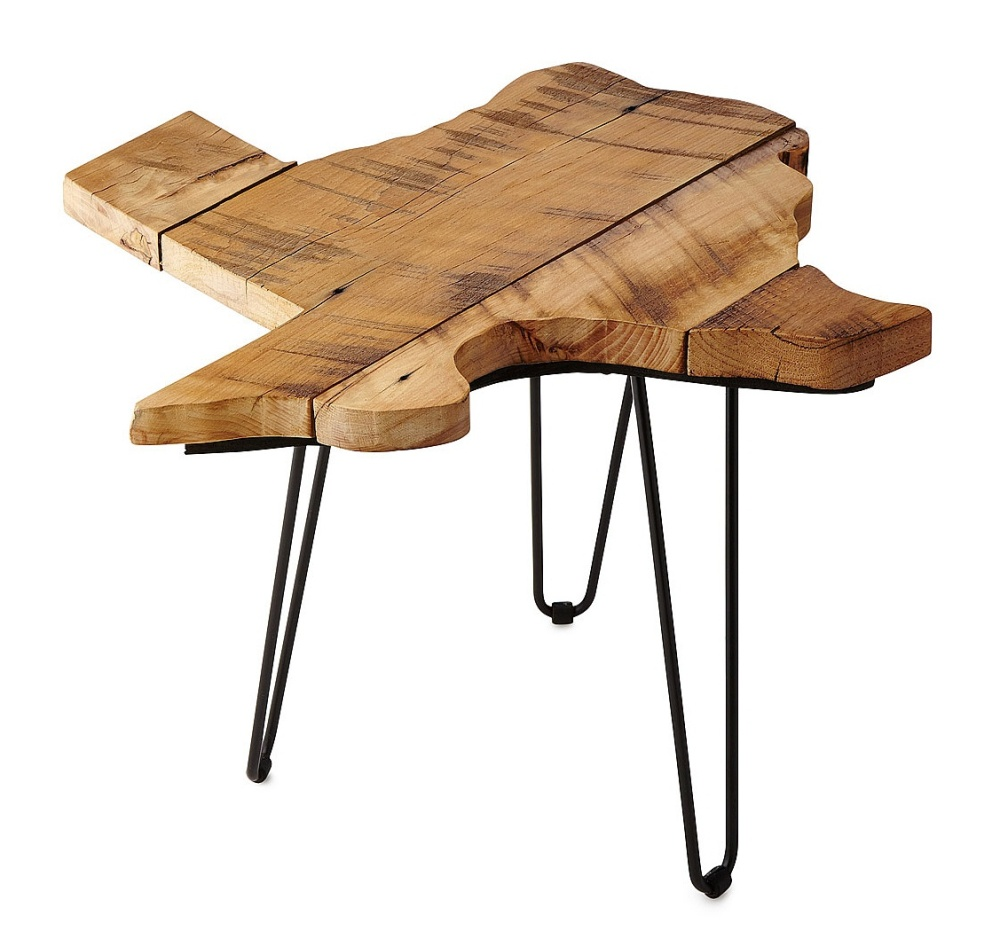 Barnwood State Side Table form Uncommon Goods