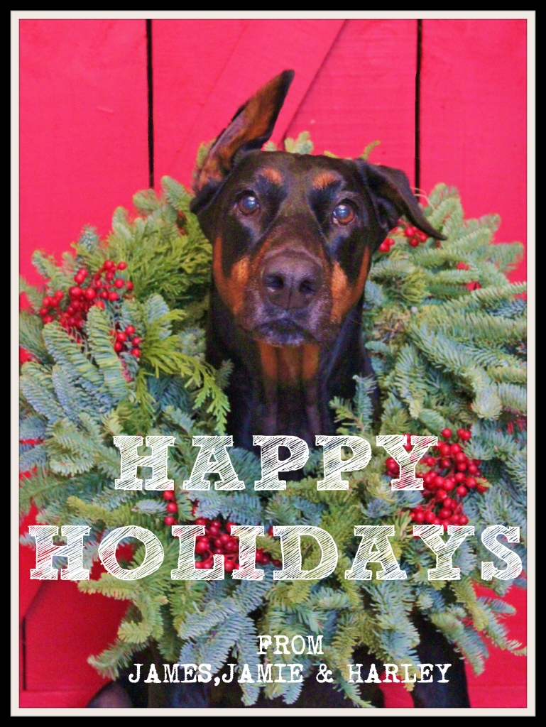 Happy Holidays from Harley Davidson in the Christmas Wreath