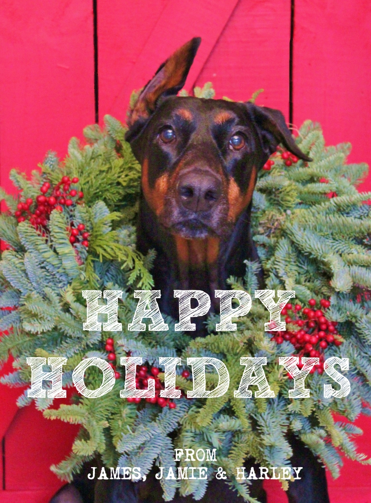 Happy Holidays from Harley Davidson in the Christmas Wreath2
