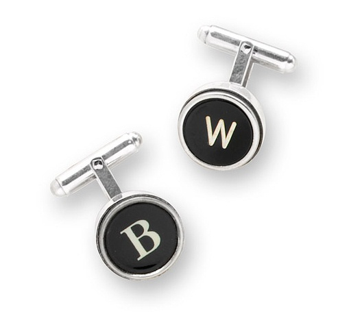 Silver Type Key Cufflinks from Uncommon Goods