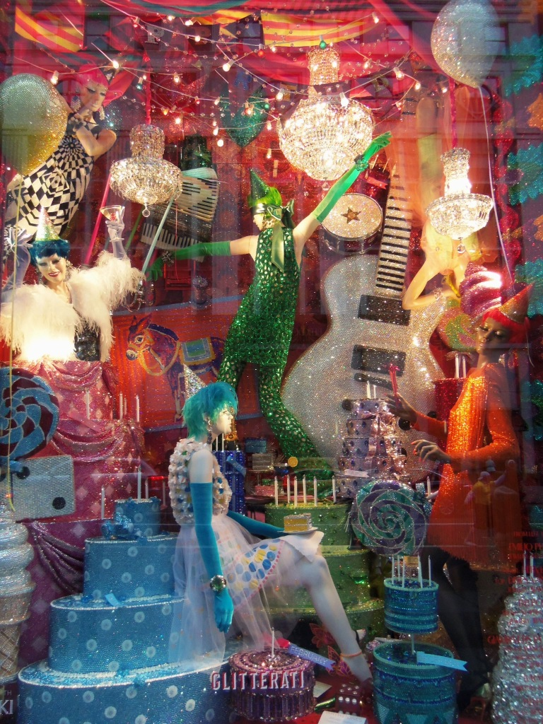 Bergdorf Goodman Glitterati Holiday Window Display