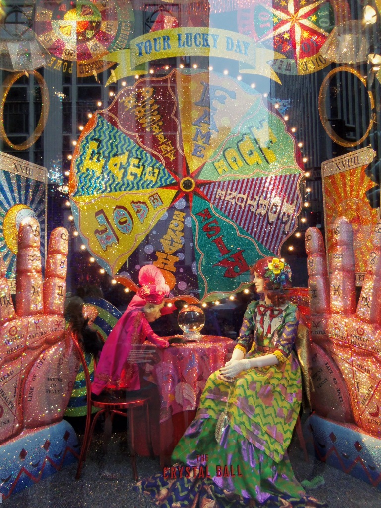 Bergdorf Goodman Holiday Crystal Ball Window