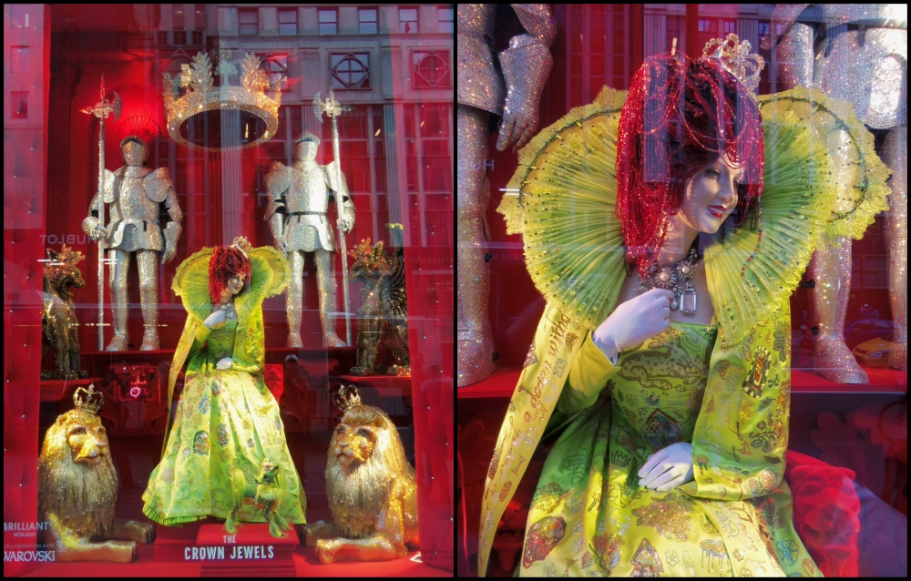 Bergdorf Goodman Holiday Window Crown Jewels Collage