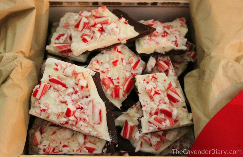Easy to Make Designer Imposter Peppermint Bark from the Cavender Diary