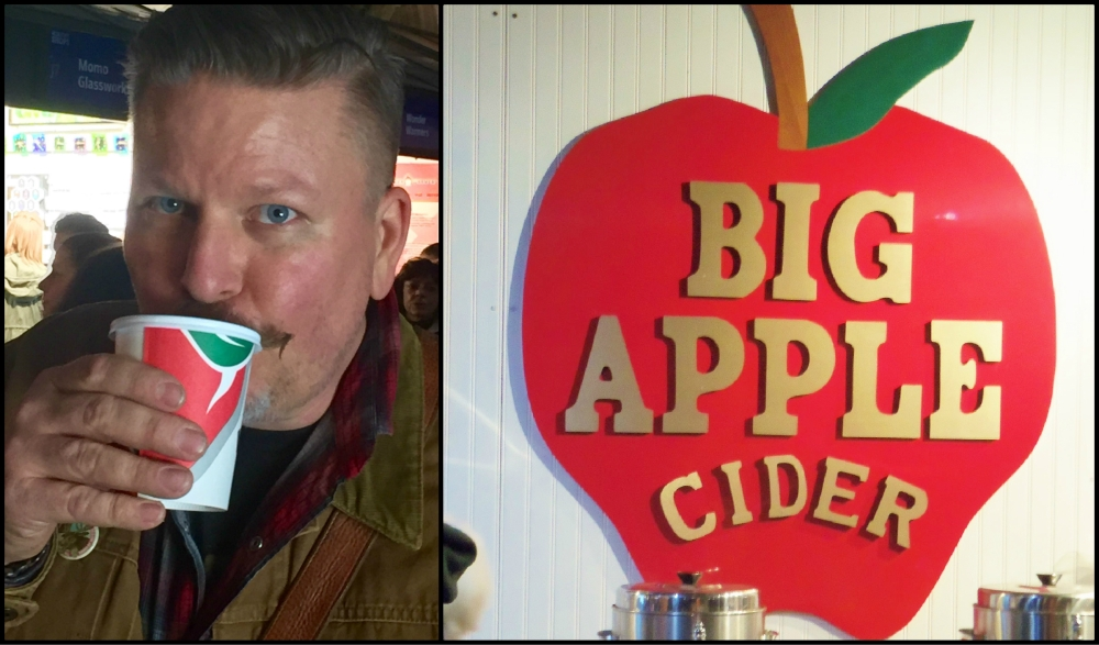 Hot Apple Cider in Bryant Park Collage