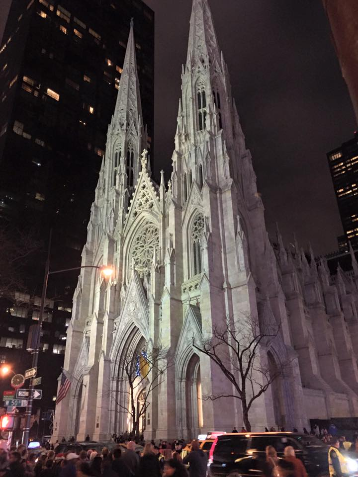 Saint Patricks Cathederal in the December Night