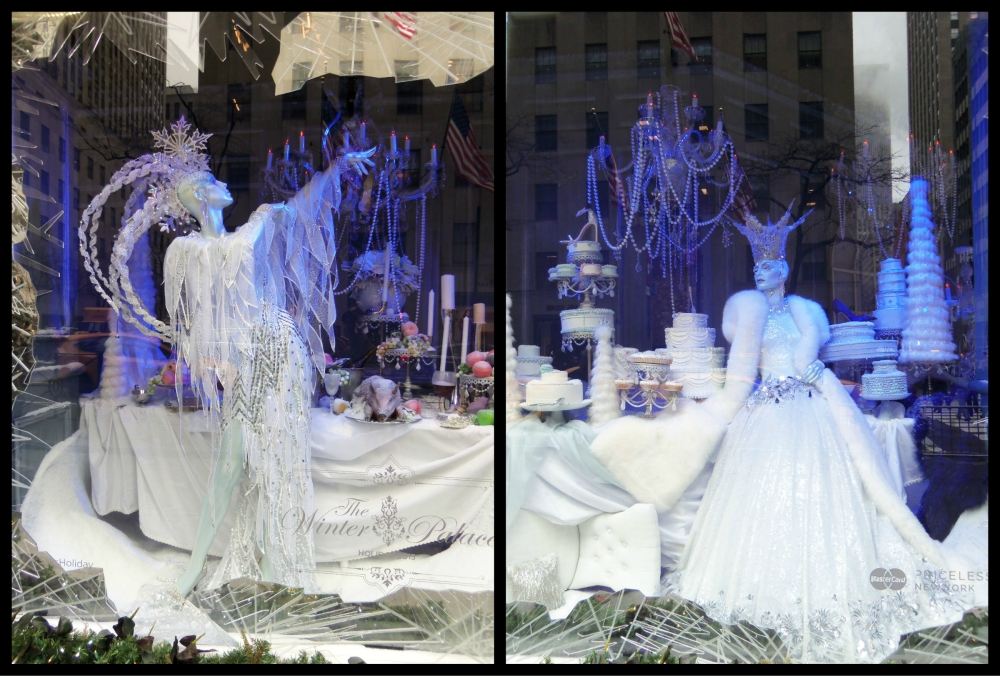 Saks Fifth Avenue Winter PAlace Holiday Windows 2 Collage
