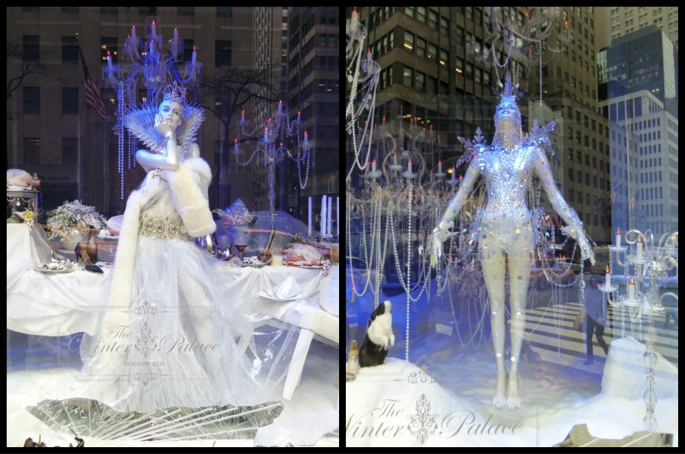Saks Fifth Avenue Winter Palace Holiday Windows Collage