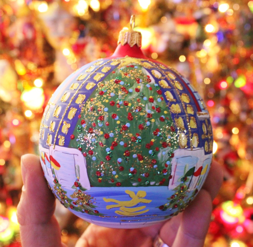 The Christmas tree at Rockefeller Center in Ornament Form