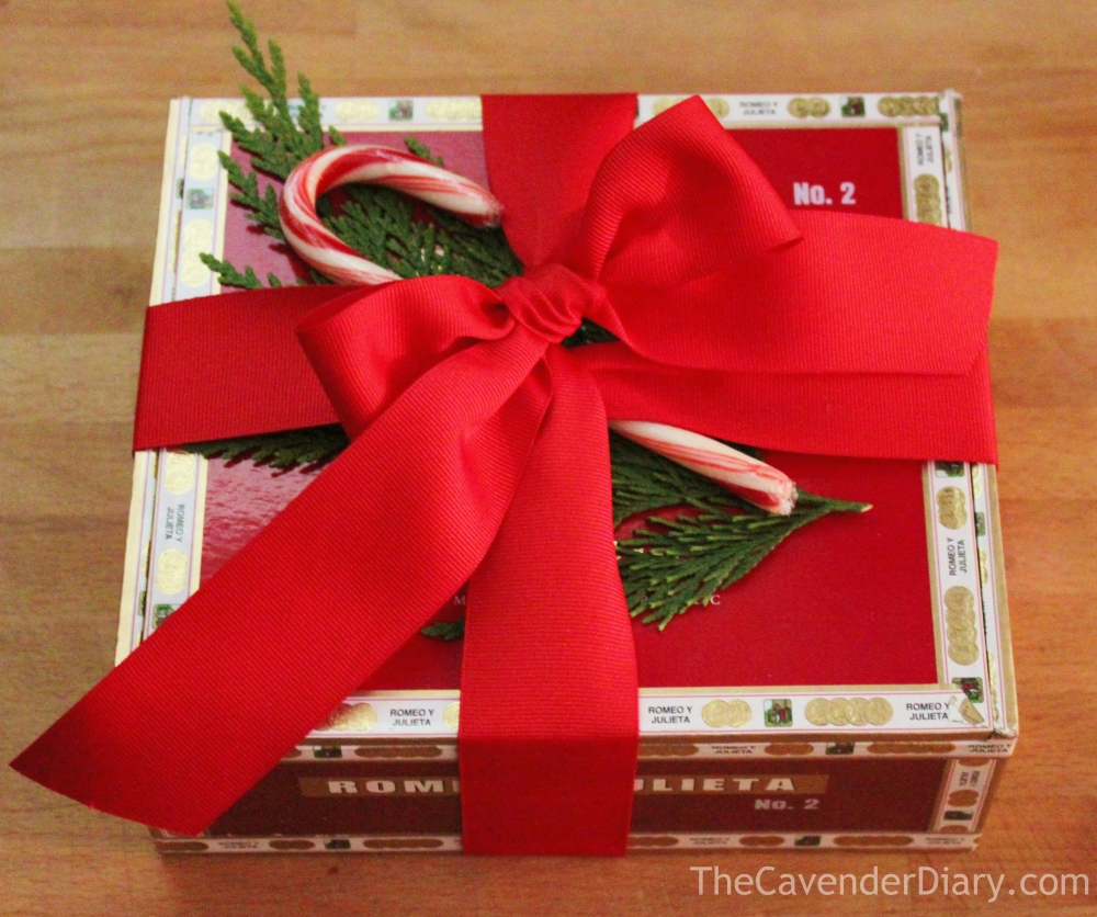 Use an Upcycled Cigar Box for Packaging your Peppermint BArk