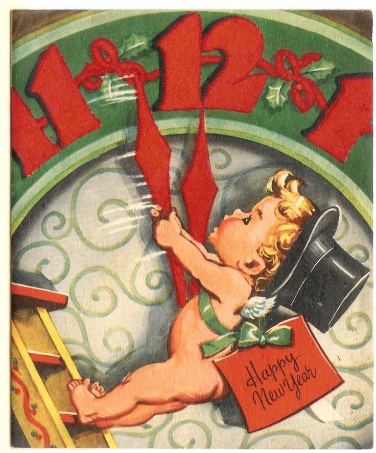 Vintage 2 Minutes till Midnight Baby New Year