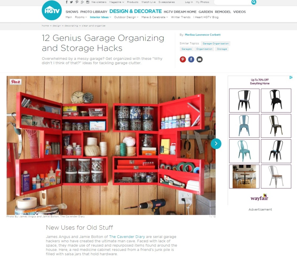 HGTV.com Garage Organizing Hacks