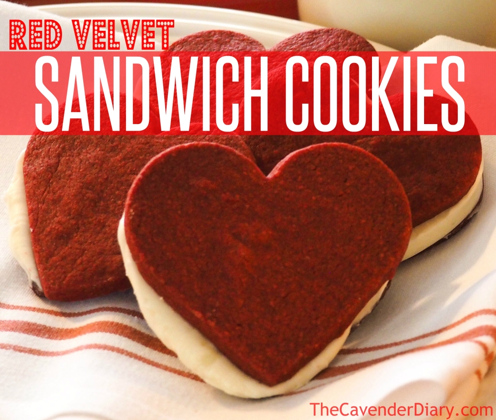 Red Velvet Sandwich Cookies for Valentine's Day from the Cavender Diary