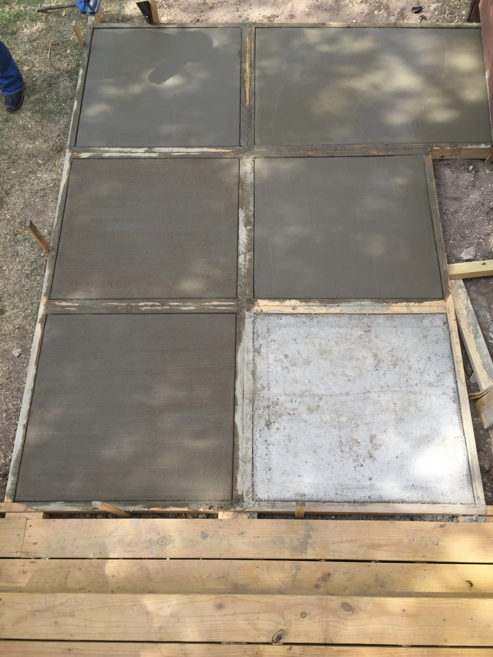 Waiting for our New Concrete Pavers to Dry