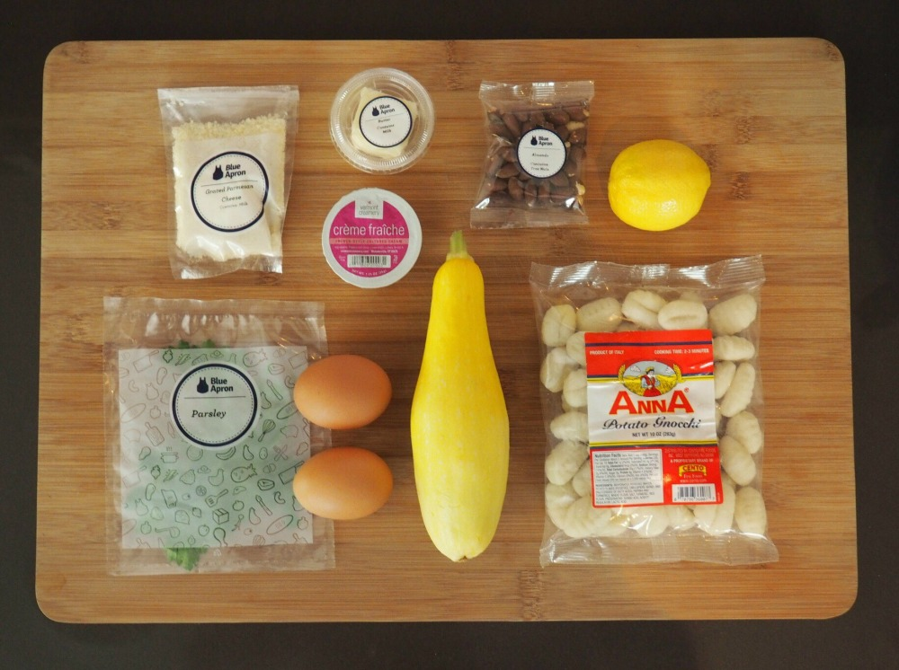 Blue Apron Ingredients for Brown Butter Gnocchi