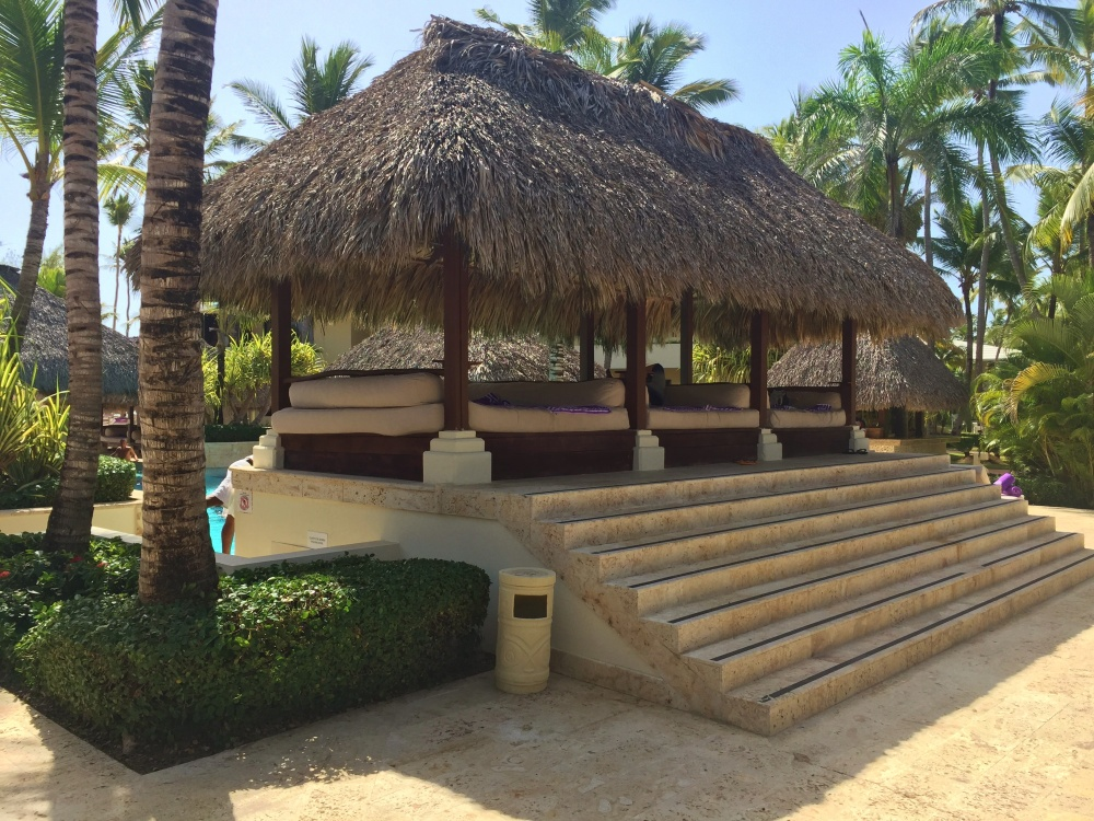 Cabanas in the Adult Pool
