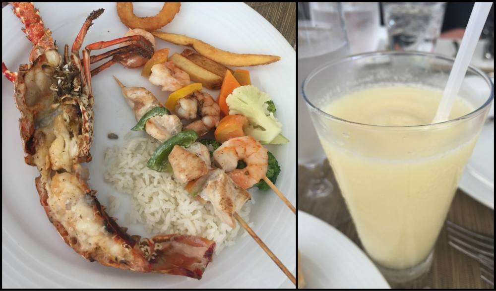 Lobster and Pina Colada Collage