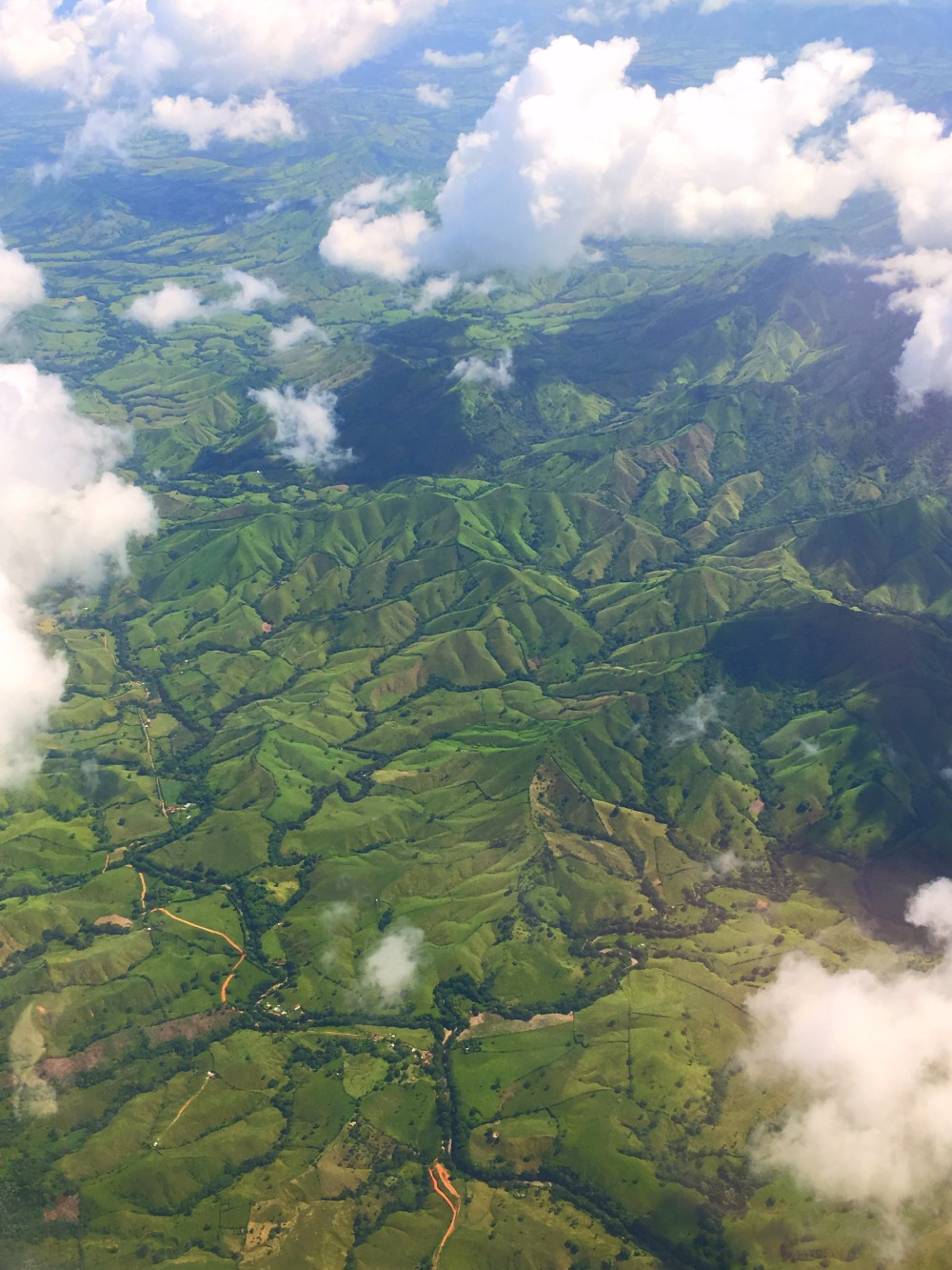 The Domincan Republic from the Air