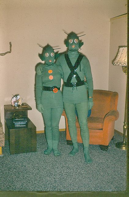 Vintage Creepy Martians