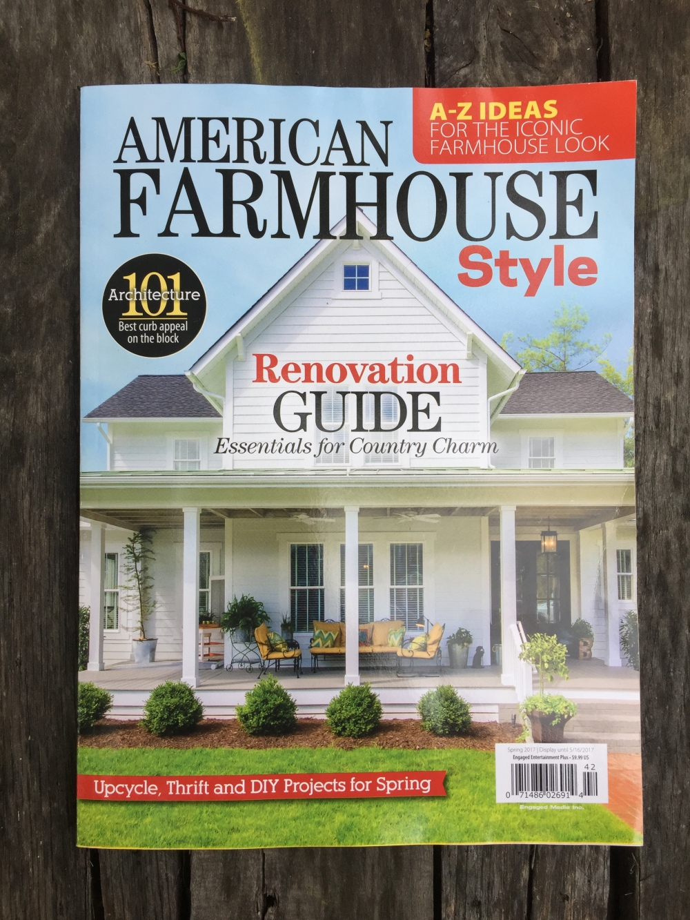 Now available at a newsstand near you the cavender diary for American farmhouse style