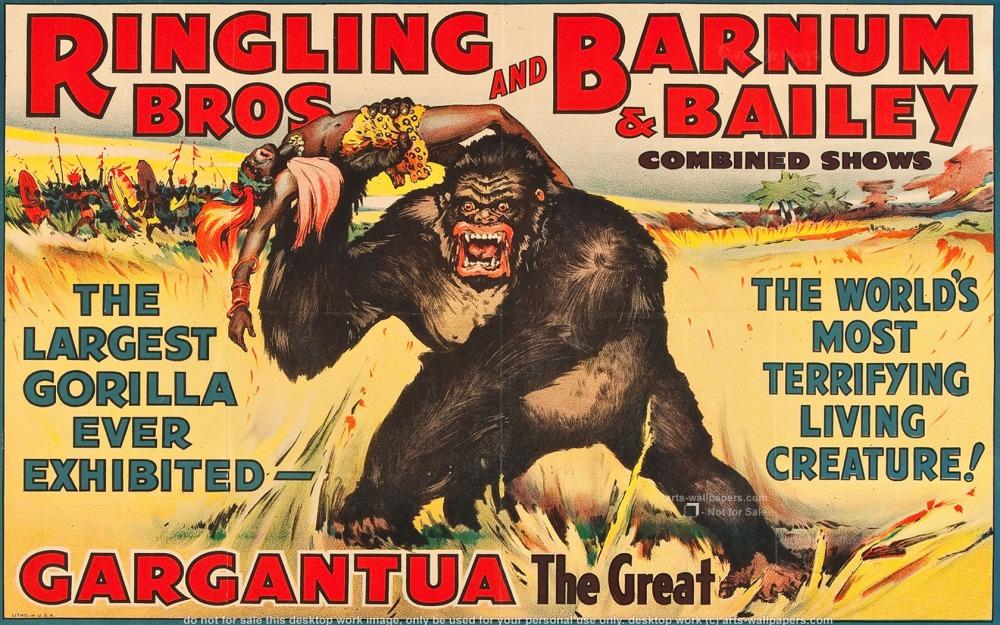 Ringling Bros Gargantua Poster