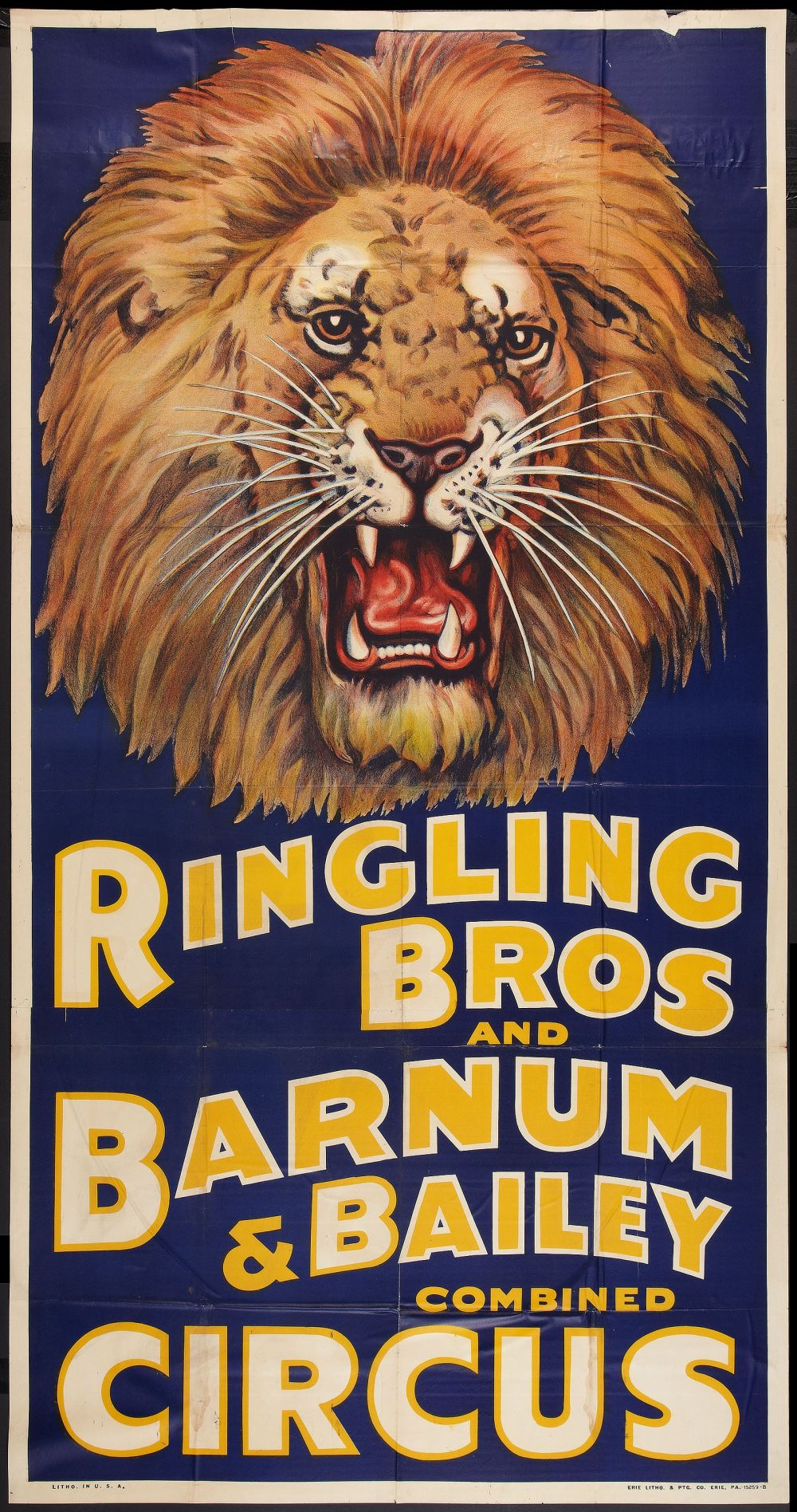 Ringling Bros Lion Head Poster