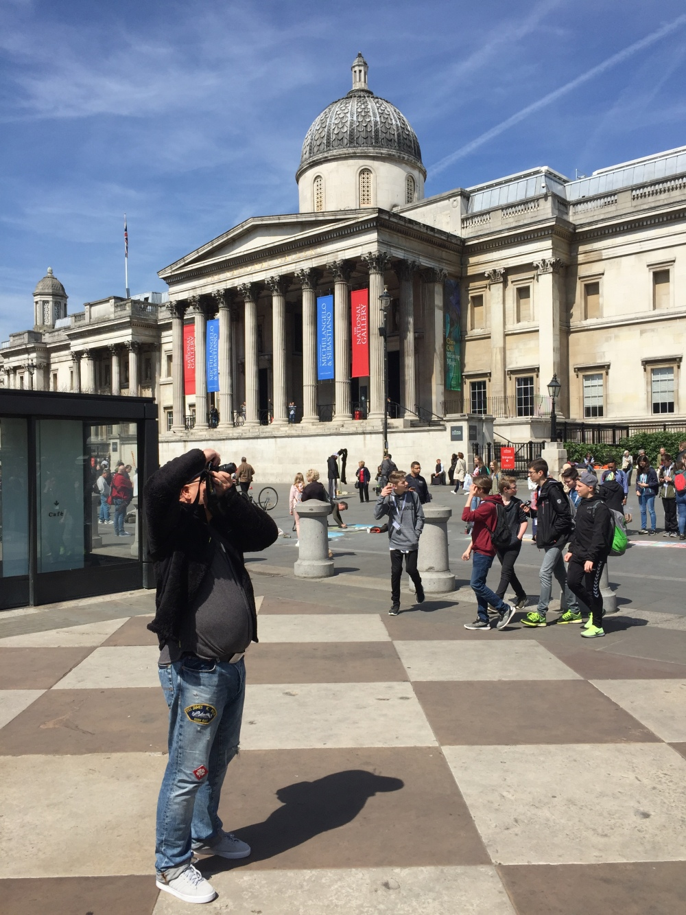 Jamis in Front of the NAtional Gallery
