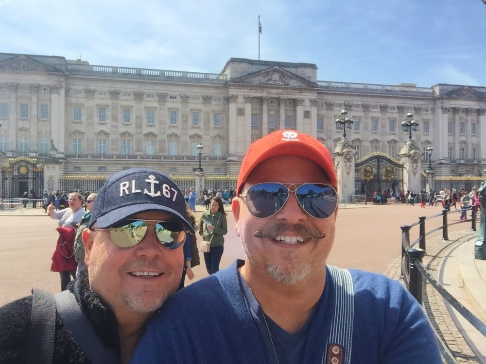 Selfie at Buckingham Palace Closer .JPG