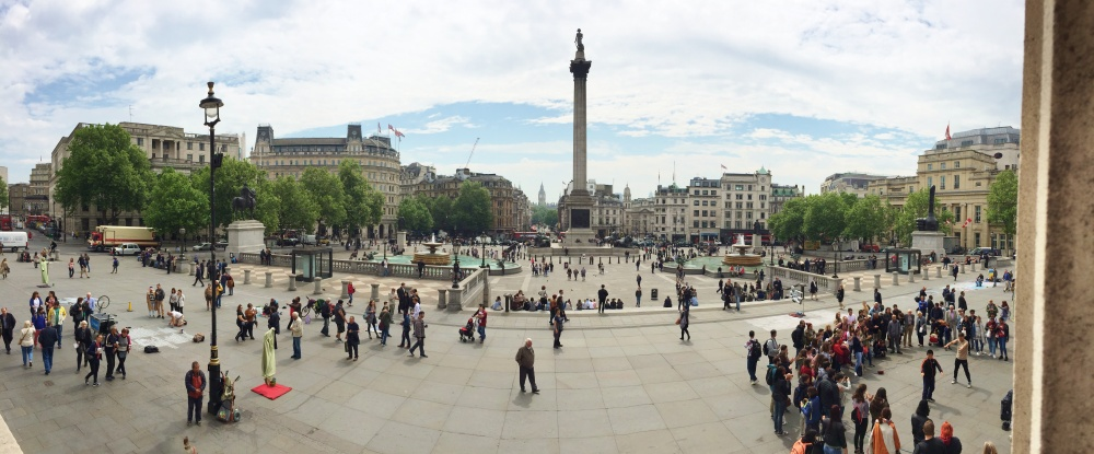 Wide Shot of Trafalgar Square